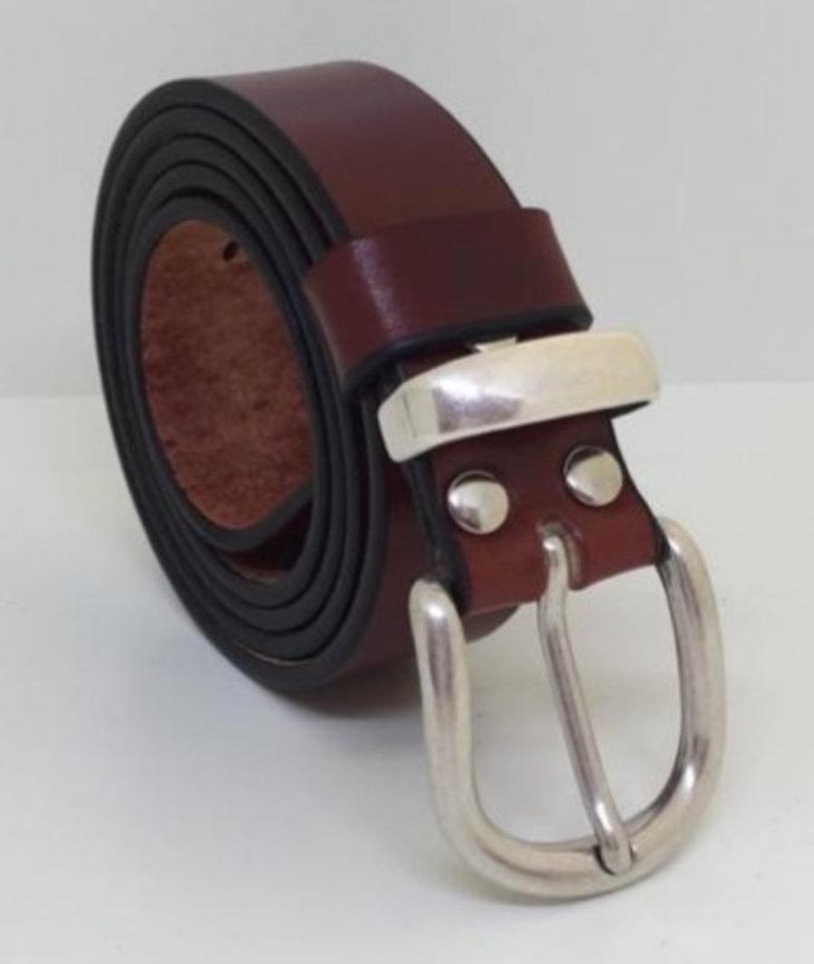 Cinturón 100% de cuero, 3cm