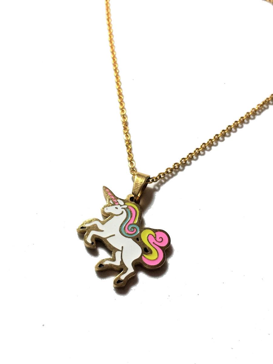 Colgante unicornio dorado