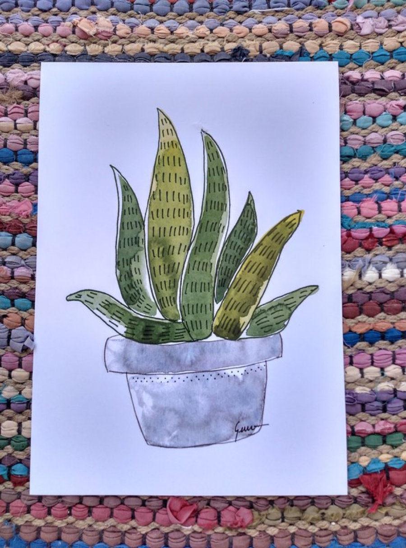 """Ilustración """"Cactus acuarela 3"""""""