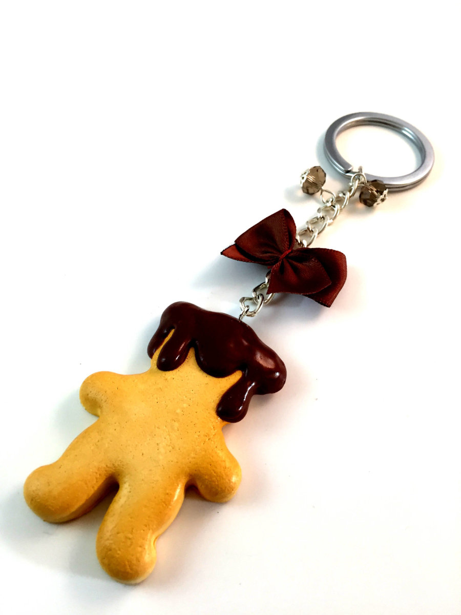 Chocolate Bear  Key Chain