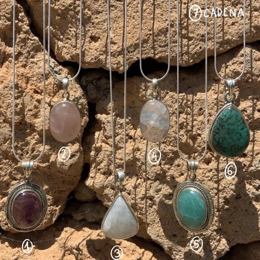 Colgantes piedras naturales