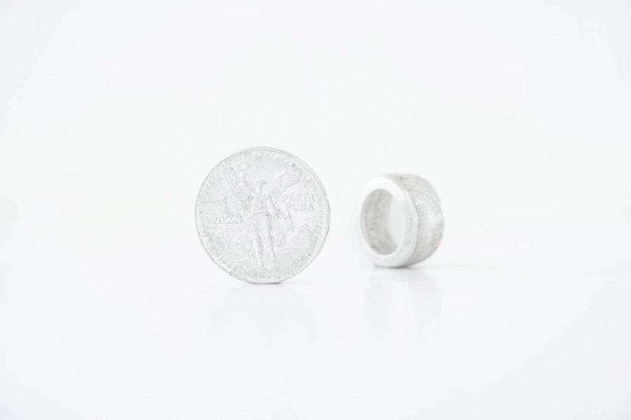 """1 Ounce """"Liberty"""" Mexican Silver Coin Ring"""