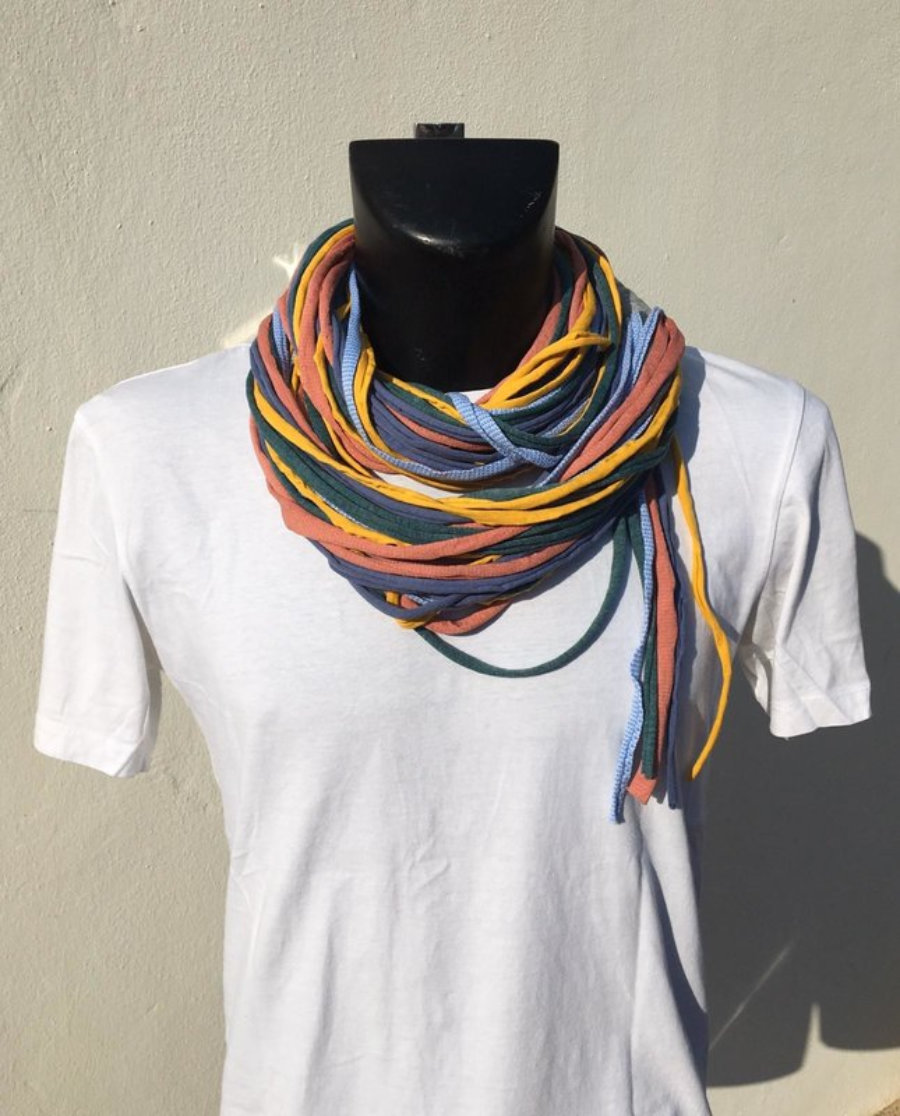 Foulard Azul, Celeste, Verde, Naranja Y Amarillo