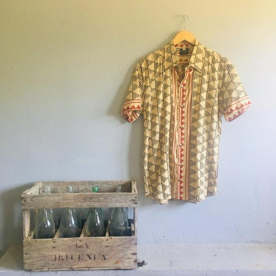 Camisa de Hombre Block Print